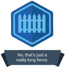 <p>No, that's not just a really long fence.</p>