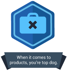 <p>When it comes to creating products, you're top dog.</p>