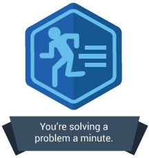 <p>You're so quick, you're solving a problem a minute.</p>