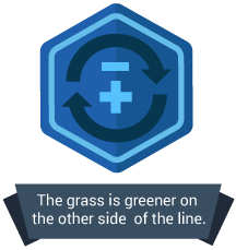 <p>The grass is greener on the other side of the number line.</p>