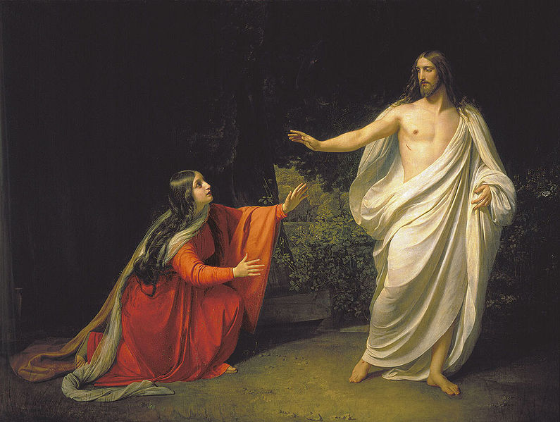 Jesus and Mary at the Tomb