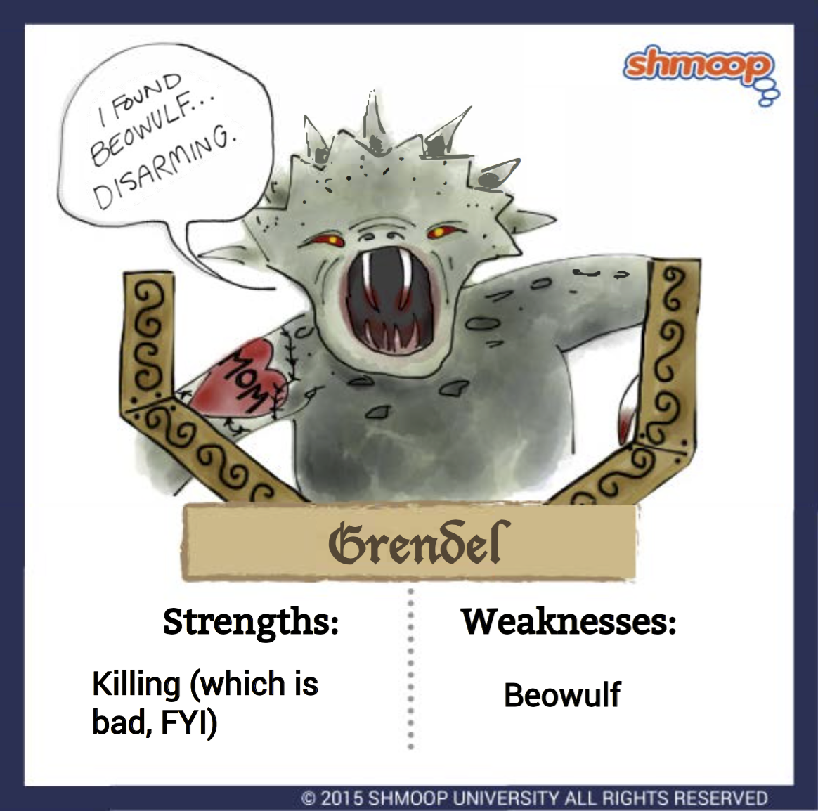 grendel in beowulf character analysis