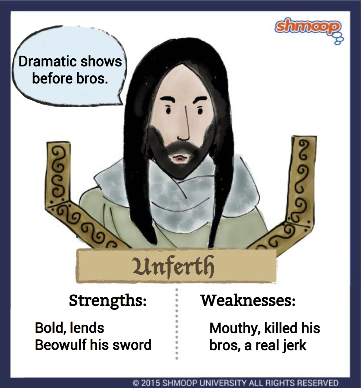 unferth in beowulf character analysis
