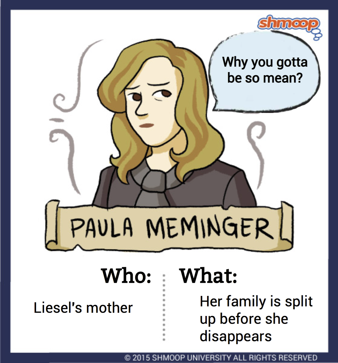 paula meminger in the book thief click the character infographic to