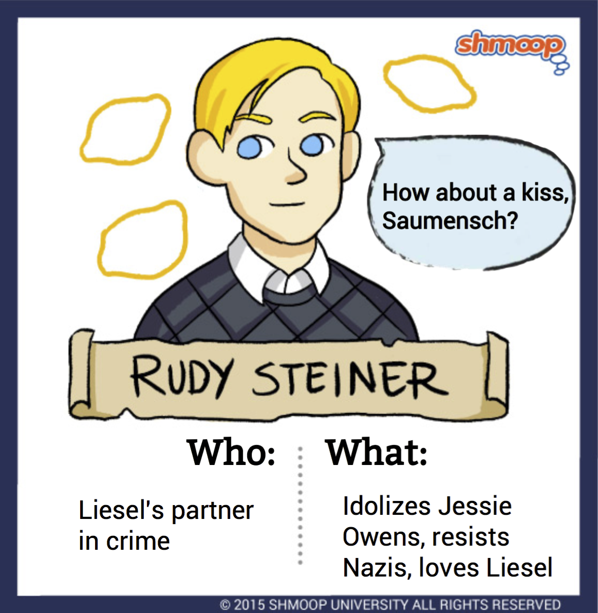 rudy steiner in the book thief character analysis