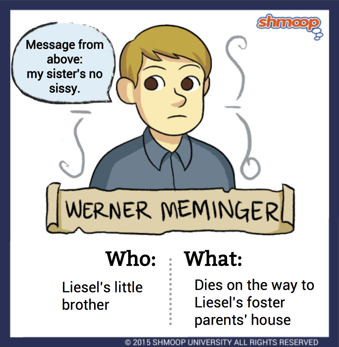 werner meminger in the book thief character analysis