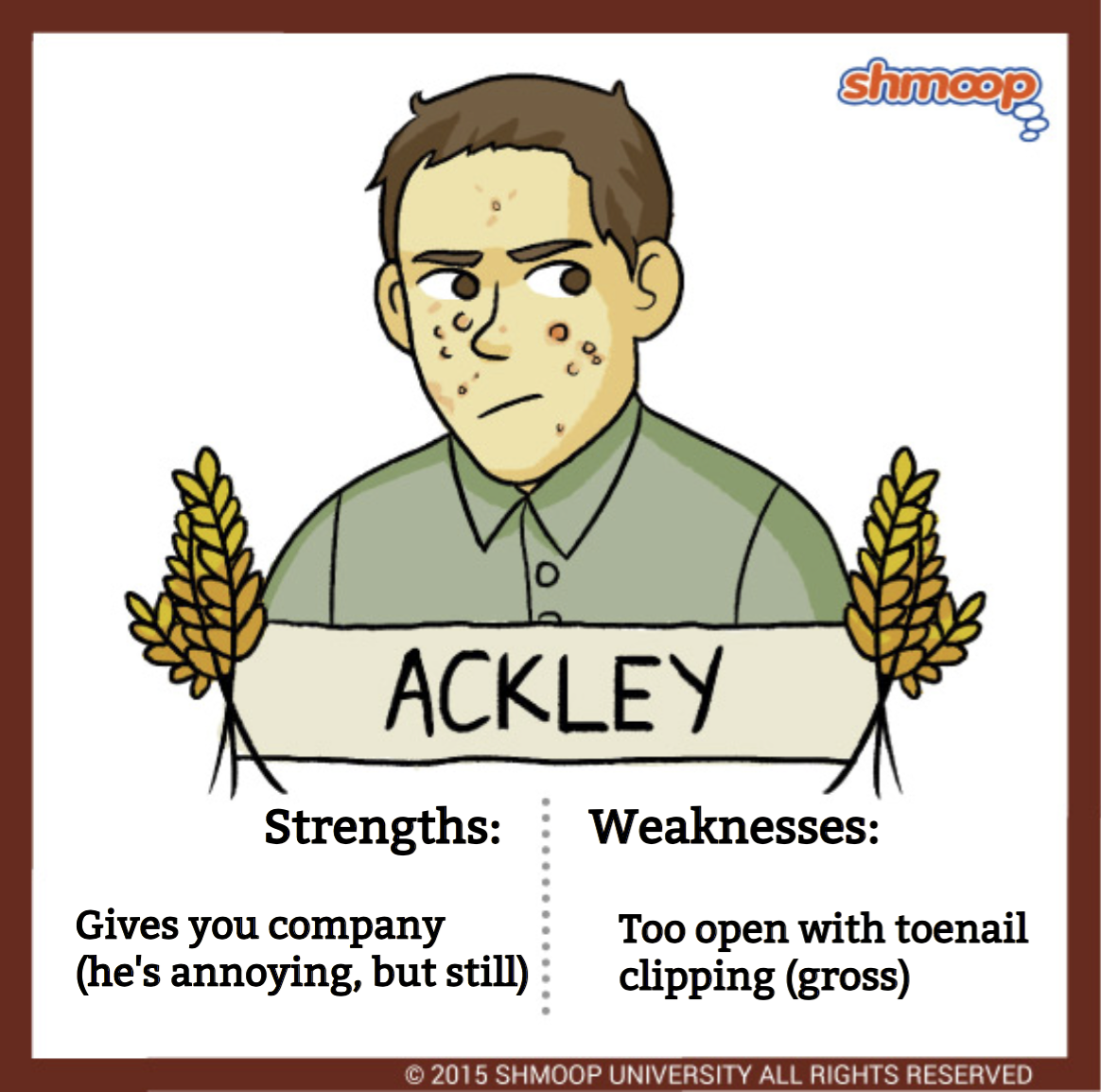 ackley in the catcher in the rye click the character infographic to