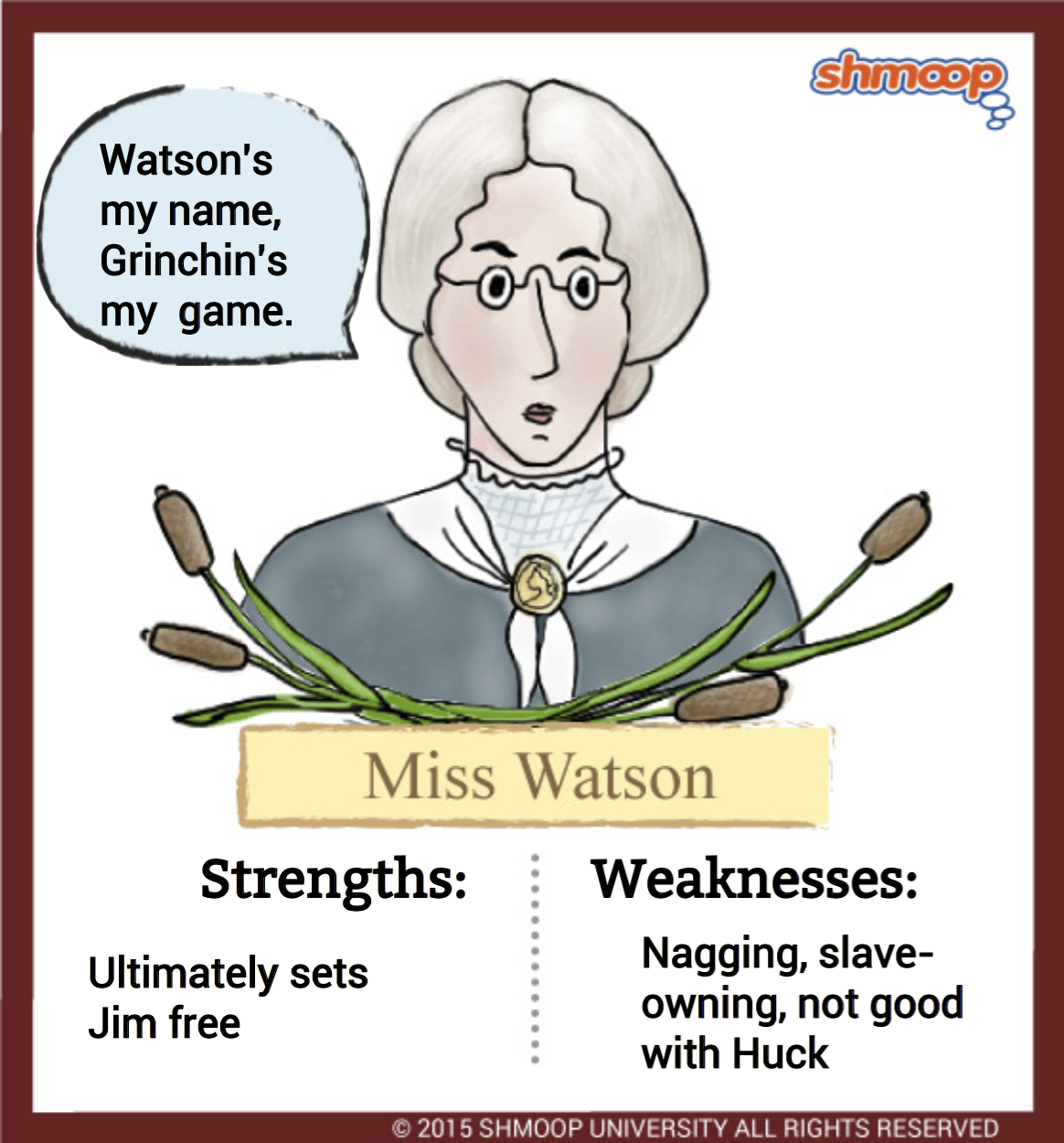 miss watson in adventures of huckleberry finn click the character infographic to