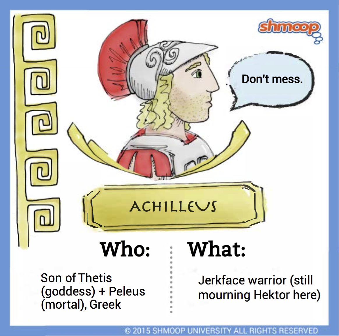 achilleus in the iliad character analysis