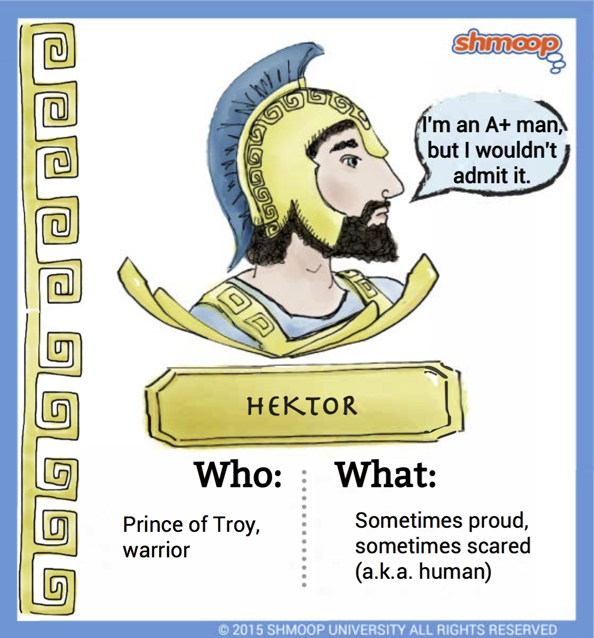 hektor in the iliad click the character infographic to