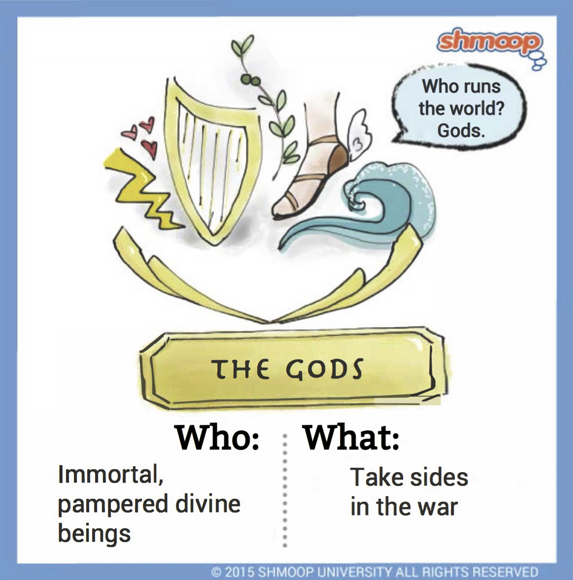 the gods in the iliad click the character infographic to