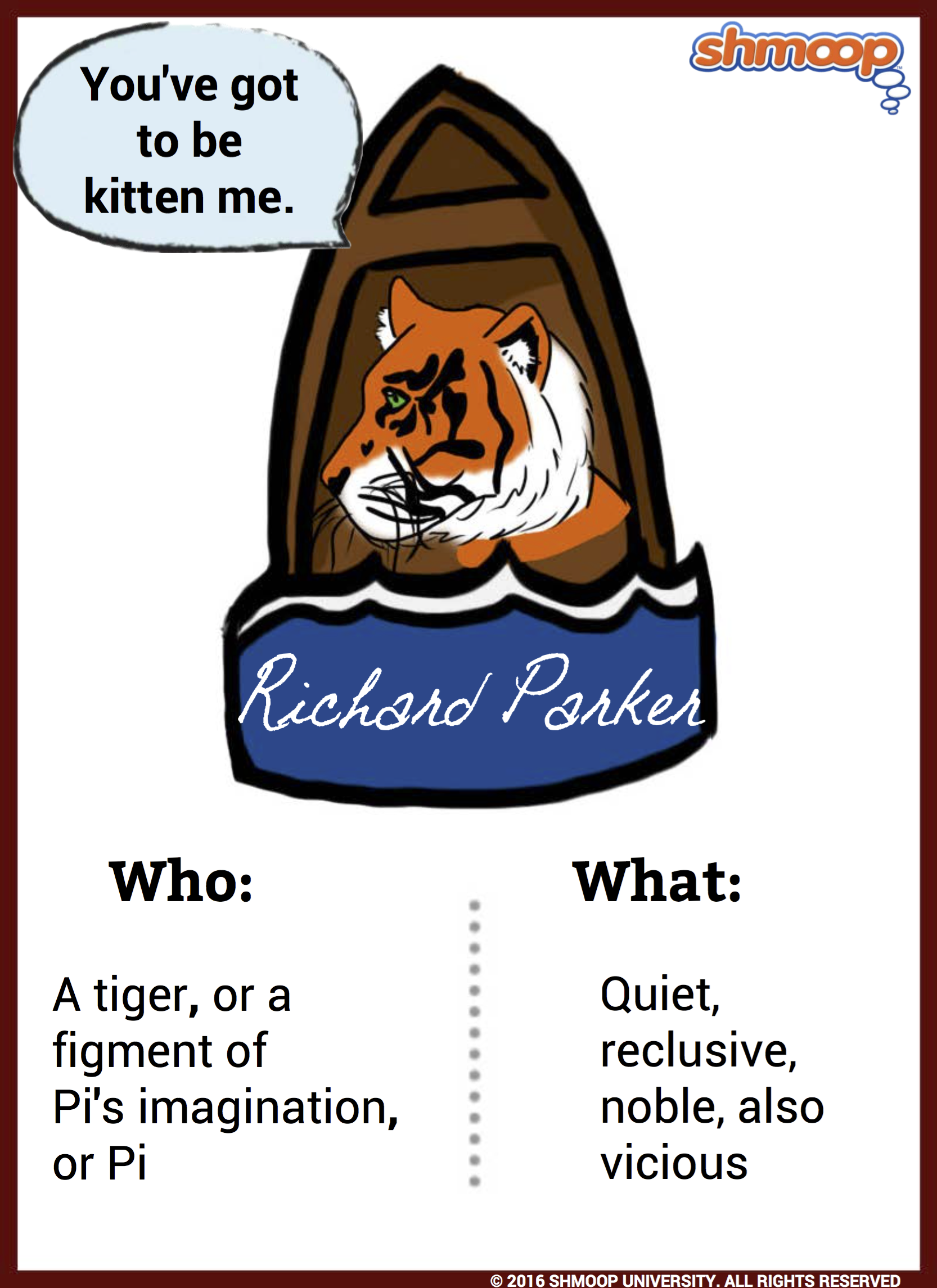 Richard parker in life of pi for Life of pi characterization