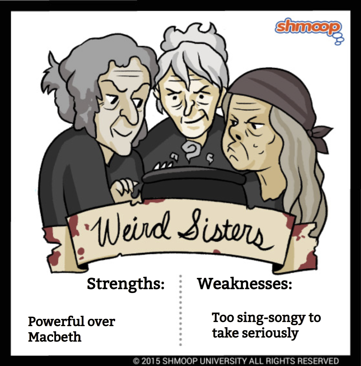weird sisters the witches in macbeth chart weird sisters the witches