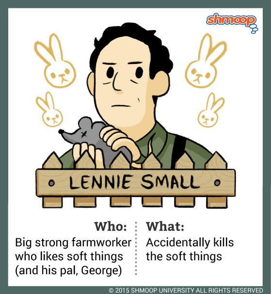 an analysis of the character lennie small in the novel of mice and men by john steinbeck Analysis of chapter 3 of john steinbeck's of mice and men.