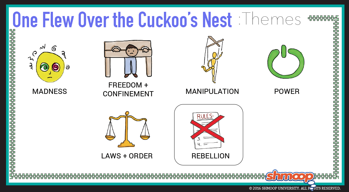 one flew over the cuckoos nest theme essay In-depth literary criticism of one flew over the cuckoo's nest by ken kesey involved study of the popular novel in order to show its deeper meanings and explore.
