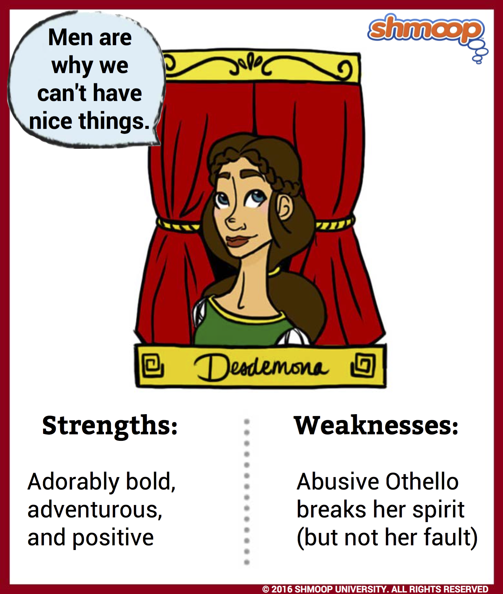 desdemona in othello character analysis