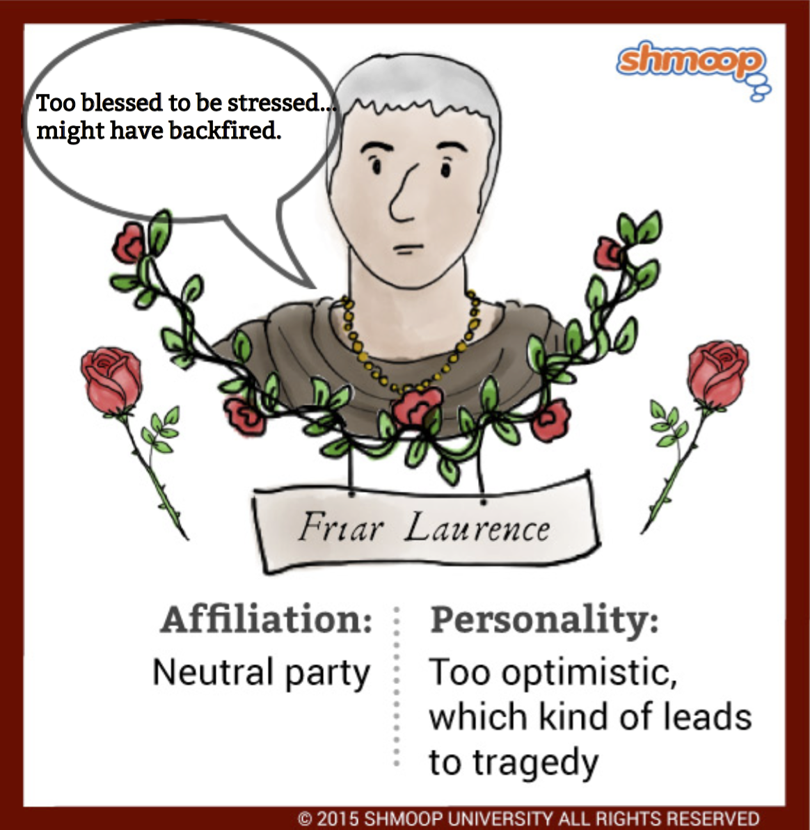 friar lawrence and the nurse essay The nurse and friar lawrence are the only two people that know romeo and juliet's secrets and the nurse is impressed by the way he talks, o lord, i could have stay'd here all the night to hear good counsel.