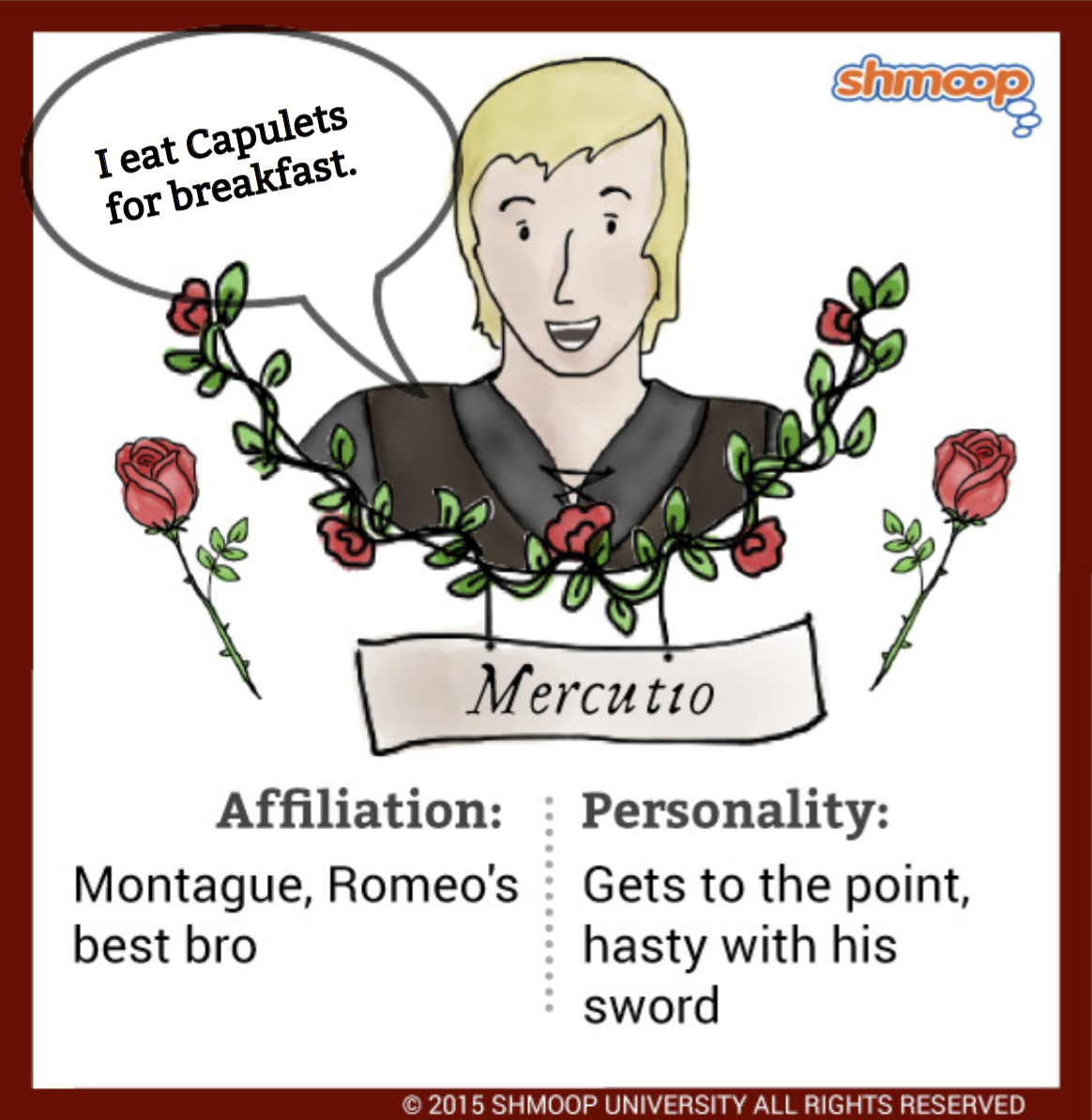 the character of juliet in romeo Benvolio is constantly thrust into the role of peace keeper throughout romeo and juliet,  benvolio later supports romeo  character in romeo and.