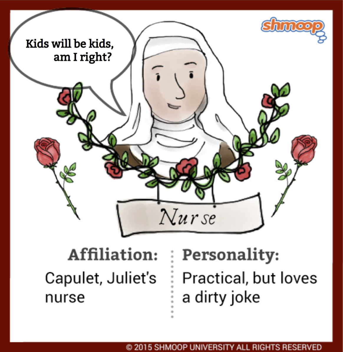 "an analysis of the nurse and her relationship with juliet in romeo and juliet a play by william shak (romeo and juliet act 2,  simply match the 10 shakespeare quotes to the correct play  ""the clock struck nine when i did send the nurse"" soliloquy analysis."