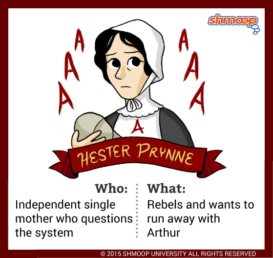 "an analysis of the character of hester in the scarlet letter by nathaniel hawthorne ""the scarlet letter"" by nathaniel hawthorne  this reversal of fortune is caused by a flaw in the character  he bids you look again at hester's scarlet letter."