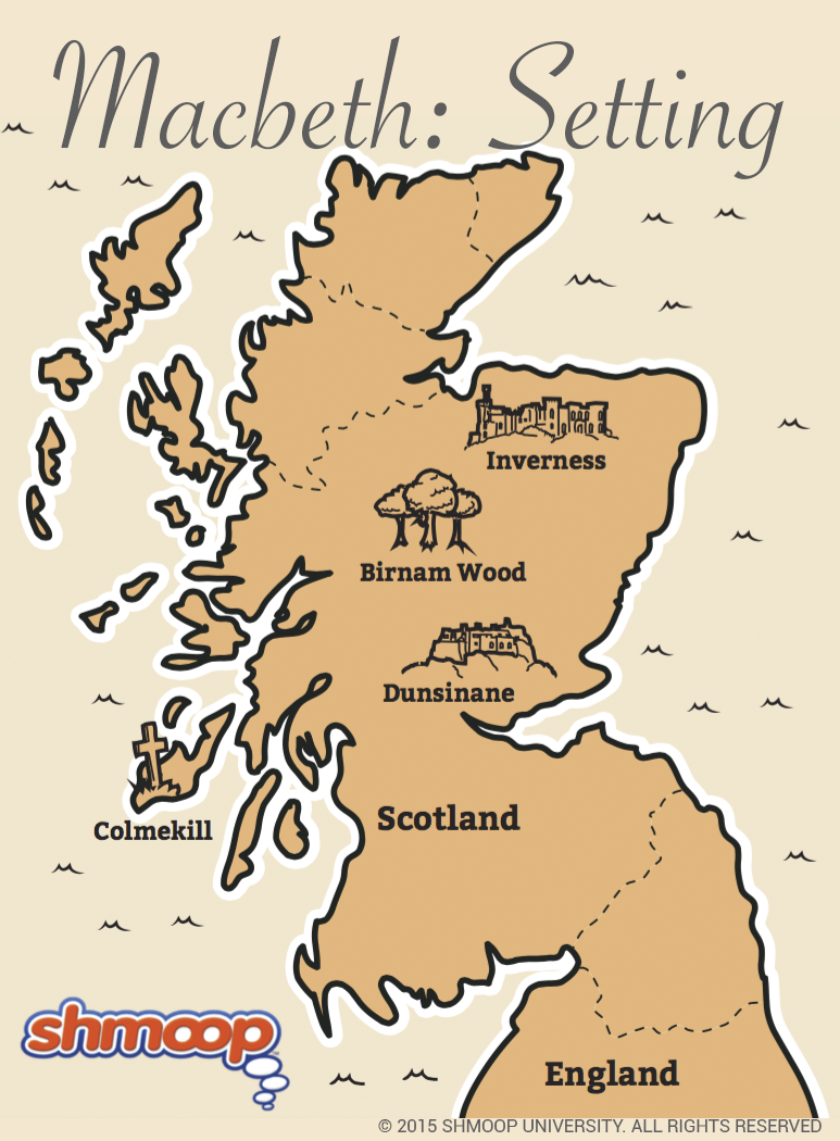 Map of Scotland in Macbeth - Chart