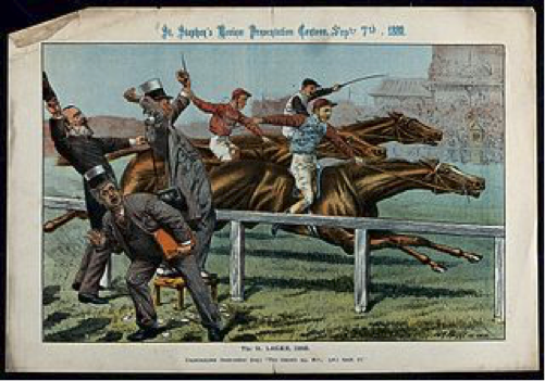 Painting of a Horse Race