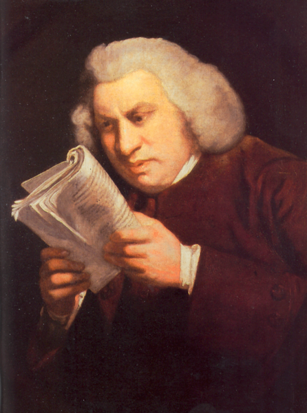 Samuel Johnson reading book