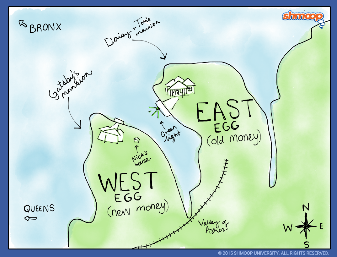 the great gatsby setting click the map infographic to