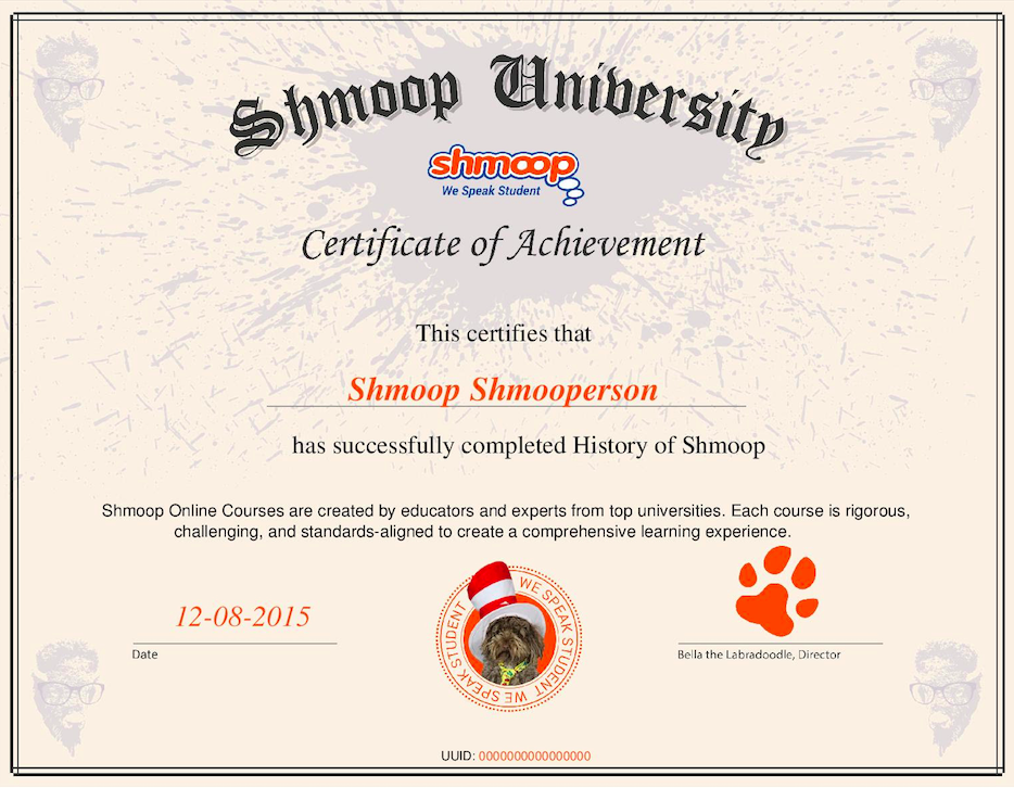 Course Certificates - Shmoop