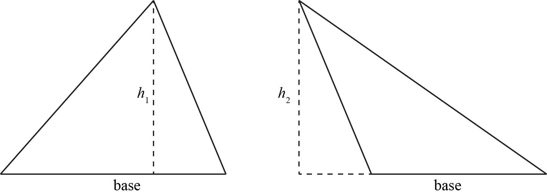 As You Might Imagine, Right Triangles Are Our Best Friends, Because Two Of  The Sides Already Are Perpendicular So One Of The Legs Is The Base,