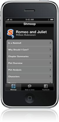 Shmoop education App for iPhone and iPod touch