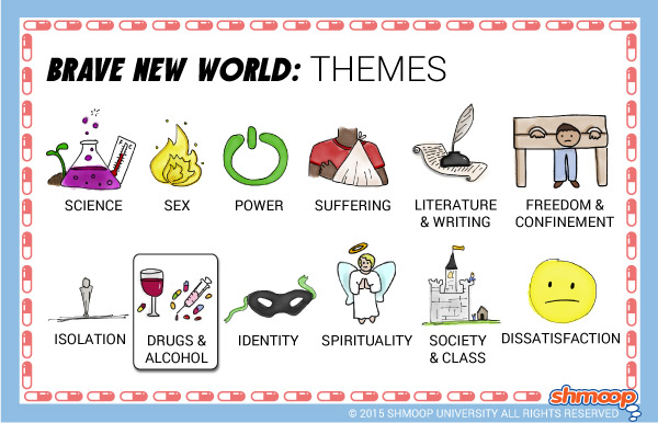brave new world theme of drugs and alcohol