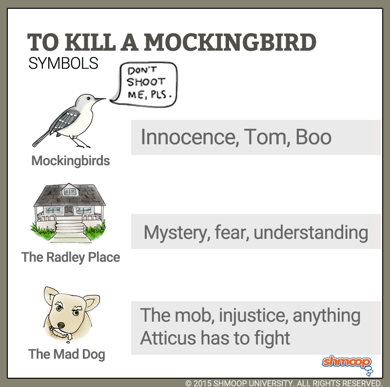 an analysis of the symbolism used in harper lees novel to kill mockingbird Symbolism in to kill a mockingbird by harper lee the mockingbird is a major symbol in the book, to kill a mockingbird, by harper lee harper lee chose the mockingbird for both the title of her book and as a symbol in her book.