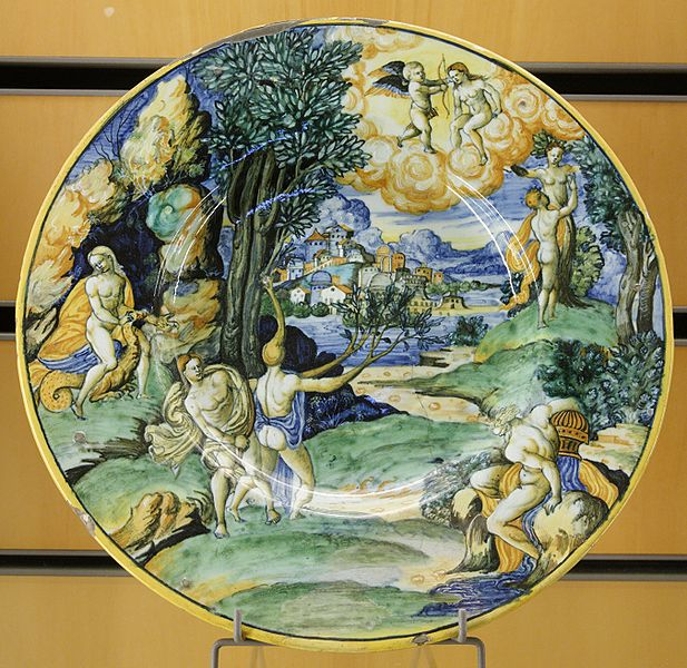 Apollo and Daphne on a Plate