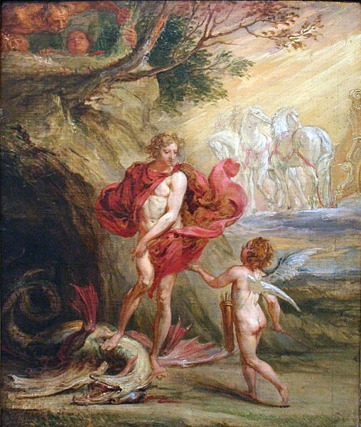 Daphne Runs from Apollo