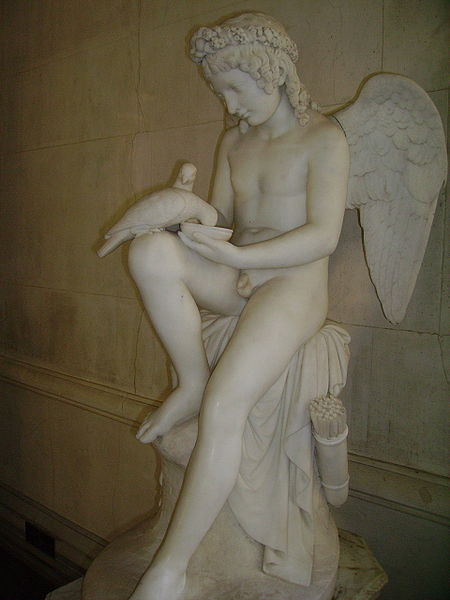 Eros Feeding Doves
