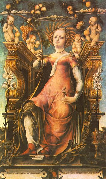 Demeter on a Throne