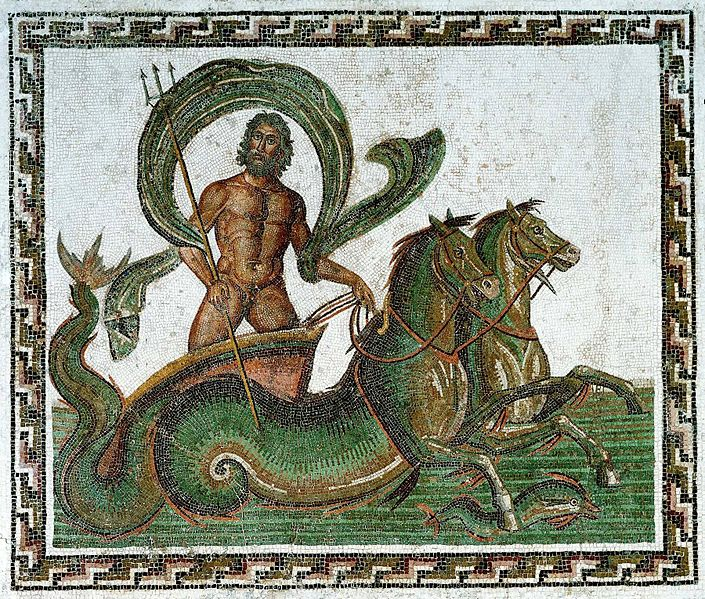 Poseidon and Sea Horses