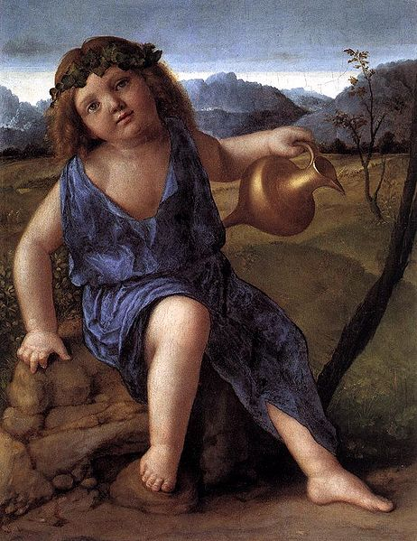 Young Dionysus, Drinking