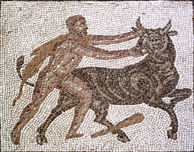 Heracles Captures the Cretan Bull