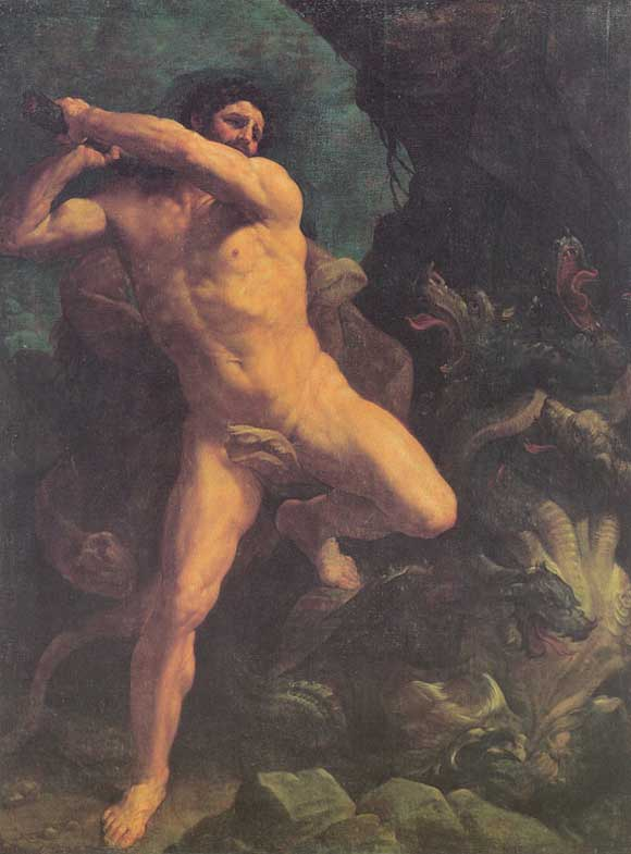Heracles Fights Lernean Hydra