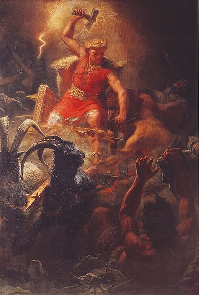 Thor Battles the Ettins