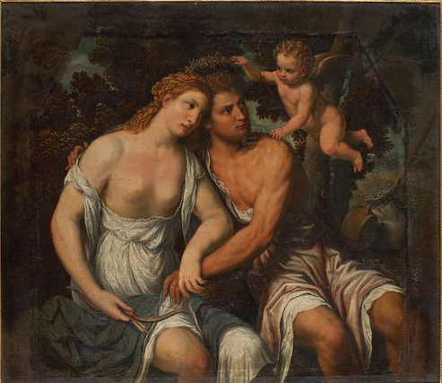 Venus Sits with Adonis