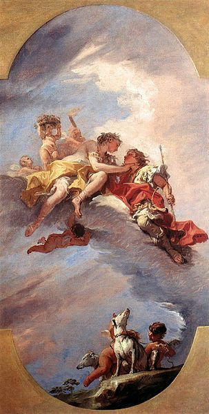 Venus and Adonis on a Cloud
