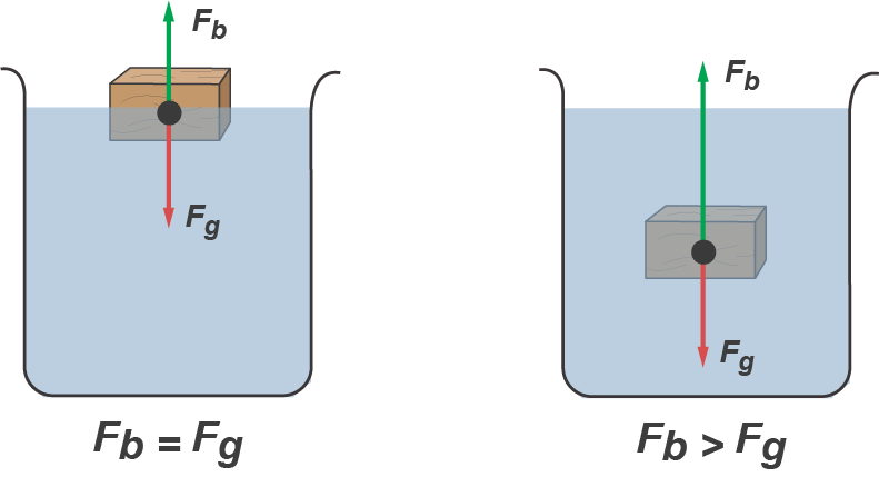 how to calculate bouyant forces of objects submerged in water Buoyant force is greater than the weight of the object displacing the water (which is the pipe), flotation will occur the density of fresh water is 624 pounds per cubic foot and the average.
