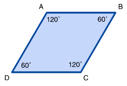 Properties of Rhombi - adjacent angles are supplementary