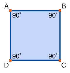 Adjacent Angles supplementary square ABCD