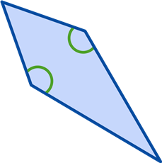 One set of congruent angles Kite