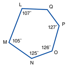 hexagon LMNOPQ