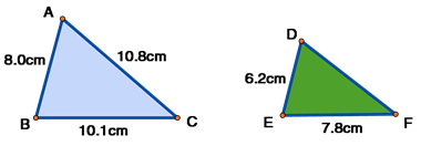 Similar Triangles ABC and DEF